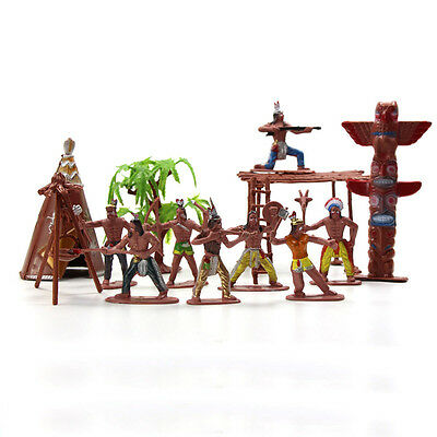 P2518 Moldel Figures Indian Tribes The Best Wild West Western Region Cowboy Toys