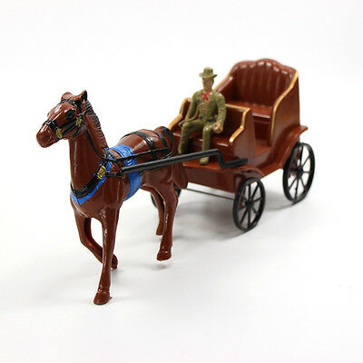 P2521 Moldel Painted Figures Horse and Carriage Western Region Cowboy Toys NEW