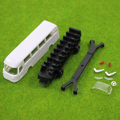 4pcs Model Cars Unpainted  Buses 1:100 TT/HO Scale Railway Layout Model Kits NEW