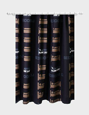 """Plain Lazy 54"""" Drop Bedroom Curtains -  Grey with Brown Beds  Childs / Teenagers"""