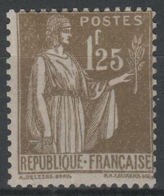"FRANCE STAMP TIMBRE N° 287 "" TYPE PAIX 1F25 OLIVE "" NEUF xx TB  N432"