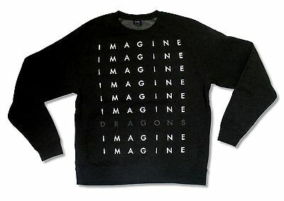 IMAGINE DRAGONS ON TOP OF THE WORLD INTO THE NIGHT SLATE T-SHIRT NEW OFFICIAL