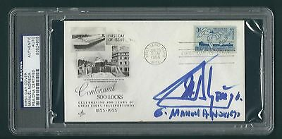 Manuel Noriega signed cover PSA Authenticated slabbed Panamanian Dictator