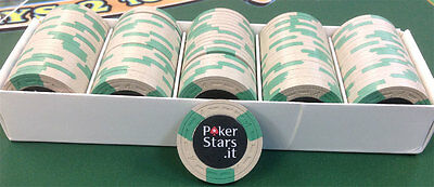 100 CLAY ASM European Poker Tour POKER STARS CHIPS A MOLD free shipping