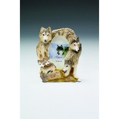 Wolf Trio  With Pups ~  Picture Frame  #2