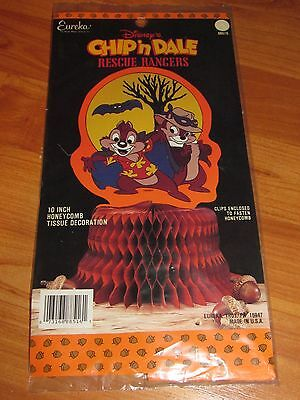"Vintage Eureka 10"" Chip n Dale Rescue Halloween Honeycomb Centerpiece NOS USA"