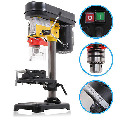 350W 5 Speed Rotary Pillar Bench Table Top Workshop Drilling Drill Press Machine