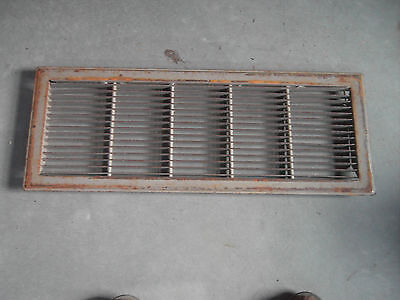 Vintage Heavy Metal Floor Register Heating Grate 26 by 10  non movable vents