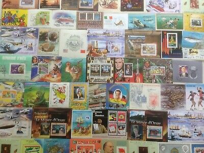 100 Different World Mini-Sheets Stamp Collection