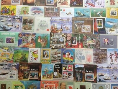 200 Different World Mini-sheets Stamp Collection