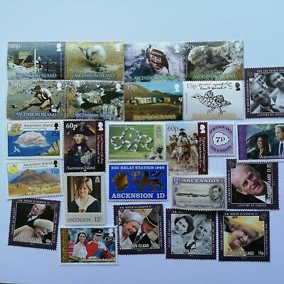 50 Different Ascension Island Stamp Collection