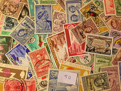 50 Different Bechuanaland Stamp Collection