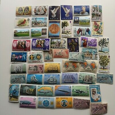 100 Different Bermuda Stamp Collection