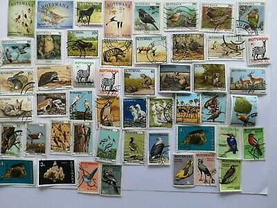 100 Different Botswana Stamp Collection