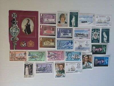 25 Different British Antarctic Territory Stamp Collection