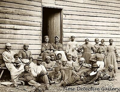 Group of Contrabands, Former Slaves, Virginia - 1862 - Civil War Photo Print