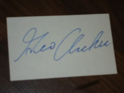 George Archer Golfer Signed 3x5 index Card
