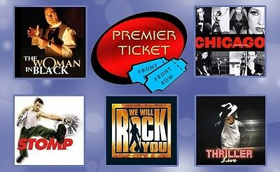 LONDON THEATRE GIFT VOUCHER for a WEST END SHOW and 2 Course MEAL for 2 People
