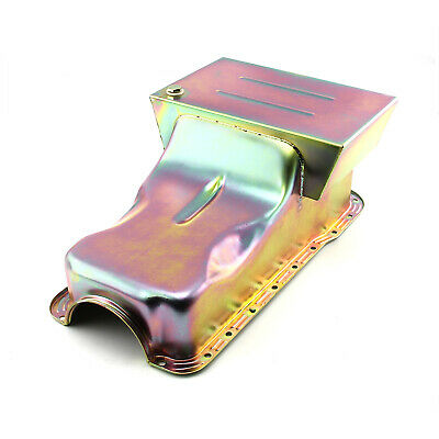 Ford 351W Windsor 6Qt Drag Front Sump Zinc Oil Pan