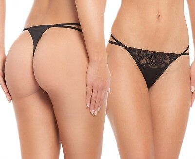 8 thong tanga Strings. In a pack of 8. With seductive lace details