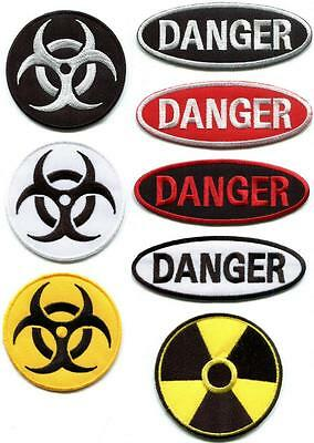 Biohazard radiation danger sign symbol applique iron-on patch your choice SN-1