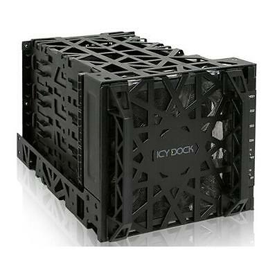 """Icy Dock MB074SP-1B Black 3.5"""" SATA HDD 4 in 3 Hot-Swap Module Cooler Cage"""