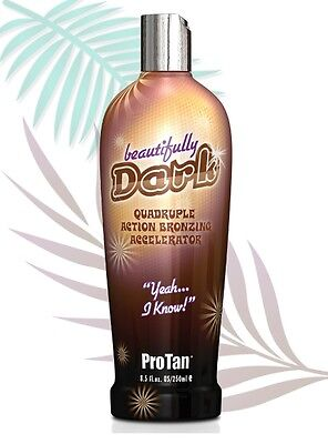 Pro Tan Beautifully Dark Sun Bed Tanning Uva Accelerator Lotion Plus Free Gift