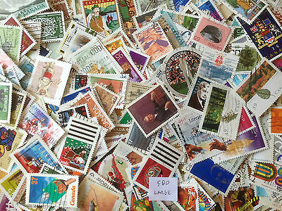 500 Different Canada Large and Commemoratives only Stamp Collection