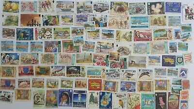 500 Different Jersey Stamp Collection
