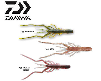 Esca Artificiale Siliconica Daiwa Bubble Shrimp Pesca Spinning Black Bass   RN