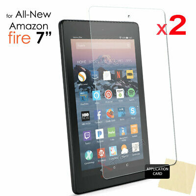 "2x CLEAR Screen Protector Covers for Amazon Fire 7"" Alexa 7th Generation / 2017"