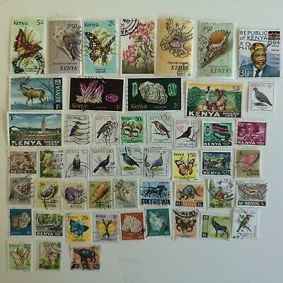100 Different Kenya only Stamp Collection