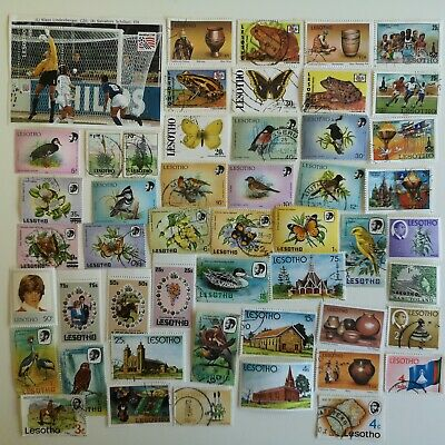100 Different Lesotho Stamp Collection