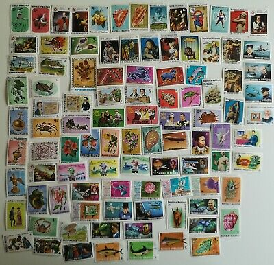200 Different Maldives Stamp Collection
