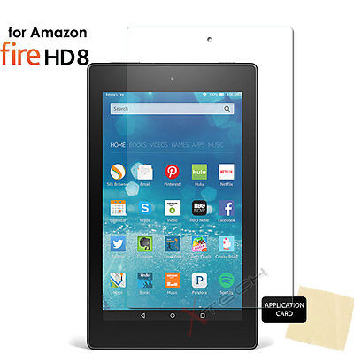1x CLEAR Screen Protector Covers for Amazon Fire HD 8 Tablet (All Generations)