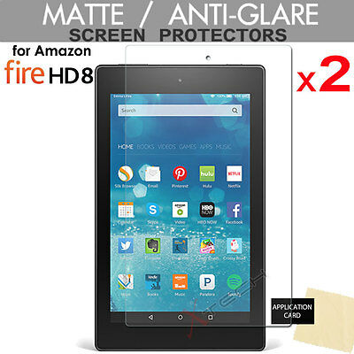 2x ANTIGLARE MATTE Screen Protector for Amazon Fire HD 8 Tablet -All Generations