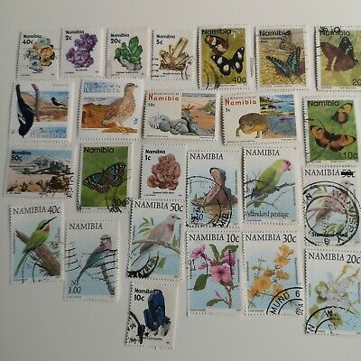 100 Different Namibia Stamp Collection