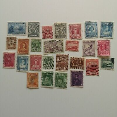 25 Different Newfoundland Stamp Collection