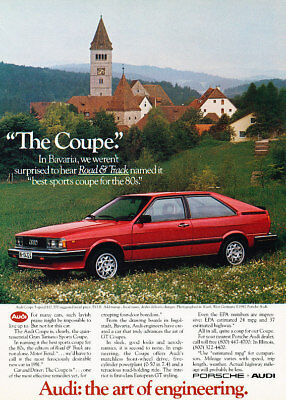 1982 Audi Coupe GT Bavaria Vintage Advertisement Ad P50