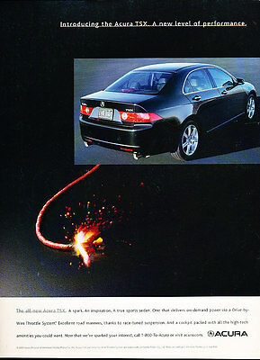 2003 Acura TSX - introducing -  Classic Advertisement Ad A53-B