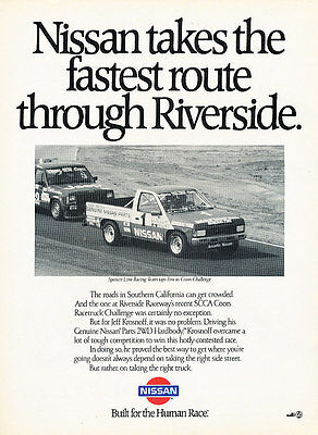 1989 Nissan Truck - Riverside race scca - Classic Advertisement Ad A25 awbw