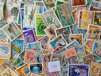 100 Different Rhodesias pre-Independence Stamp Collection
