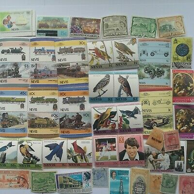 100 Different St Kitts Nevis Anguilla Stamp Collection