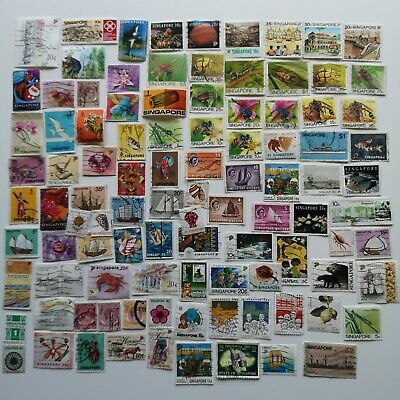 100 Different Singapore Stamp Collection