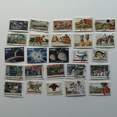 100 Different South Africa Homelands Stamp Collection