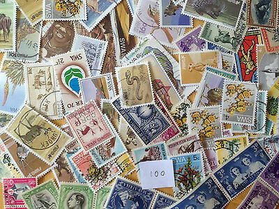 100 Different South West Africa Stamp Collection