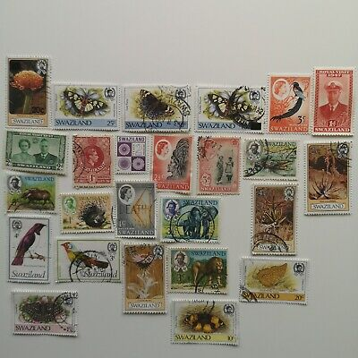 100 Different Swaziland Stamp Collection
