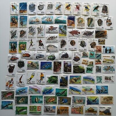 200 Different Tanganyika/Tanzania Stamp Collection