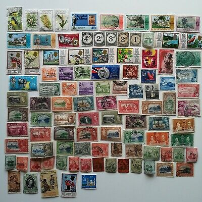100 Different Trinidad and Tobago Stamp Collection