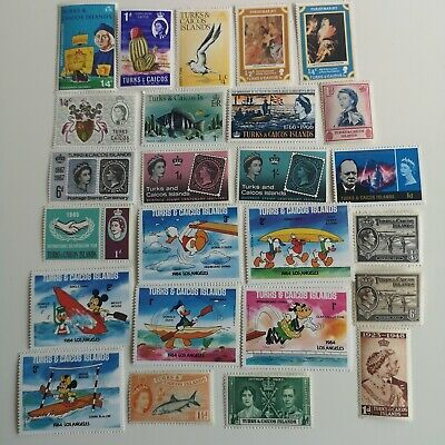 100 Different Turks and Caicos Stamp Collection